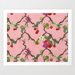 Cherries and Vine Art Print