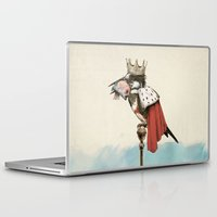 king Laptop & iPad Skins featuring King Fisher by Eric Fan