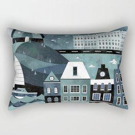 Amsterdam Travel Poster Rectangular Pillow