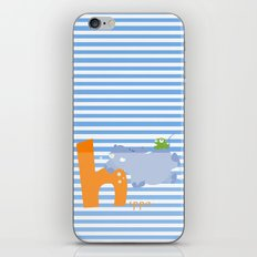 h for hippo iPhone & iPod Skin