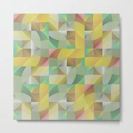 Tiled Waves 02-19 Metal Print