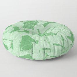 GARDEN TOOL KIT PATTERN Floor Pillow