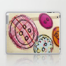 Embroidered Buttons Laptop & iPad Skin