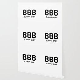 "White typography pattern ""Bla Bla Baby"" Wallpaper"