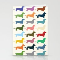 dachshund Stationery Cards featuring Dachshund by Opul