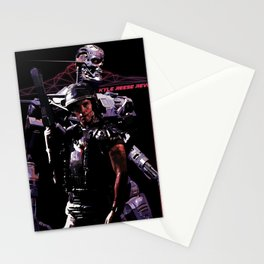 Kyle Reese Revenge Aliens Terminator 80s synthwave Stationery Cards