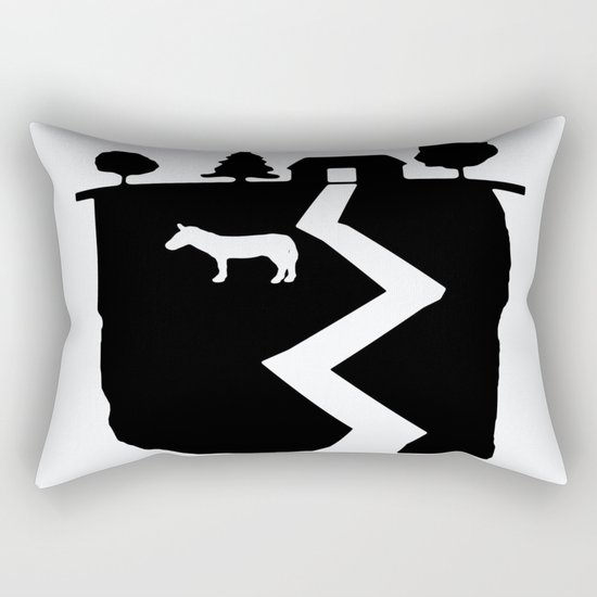 Farm On The Edge Of The World Rectangular Pillow