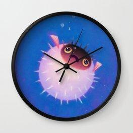 Drifting puffer Wall Clock