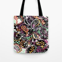 paisley Tote Bags featuring PAISLEY by  Ray Athi