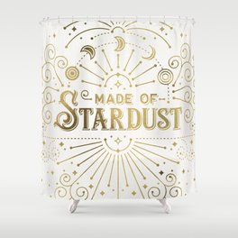 Made of Stardust – Gold Palette Shower Curtain