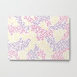 Contemporary Street Art Keith Haring Pattern Geometric Color #6W Metal Print