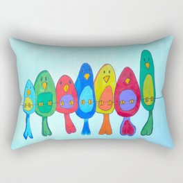 Birds on the wire Rectangular Pillow