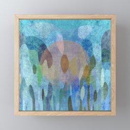 Sunrise in my garden Framed Mini Art Print