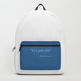 it's just... blue Backpack