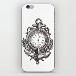 Anchor clock cell phone case iPhone Skin