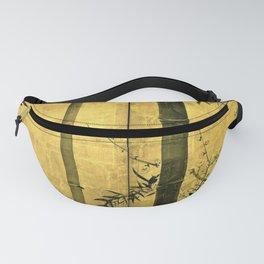 12,000pixel-500dpi - Ogata Korin - Top Quality Art - Bamboo and plum tree Fanny Pack