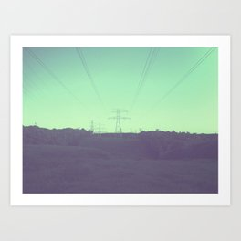 GREENISH HILLS Art Print