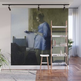 Johannes Vermeer - Woman in Blue Reading a Letter Wall Mural