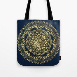 Blue & Gold Boho Pattern Tote Bag