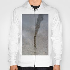Factory Chimney , Reflection in Water Hoody