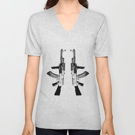 BLACK AK 47 Unisex V-Neck