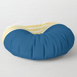 Modern Minimal Striped Blue 01 Floor Pillow