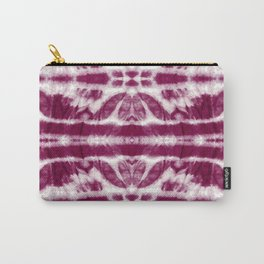 Tie-Dye Burgundy Twos Carry-All Pouch