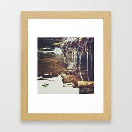 Winter streams Framed Art Print