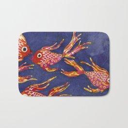 Goldfish batik Bath Mat