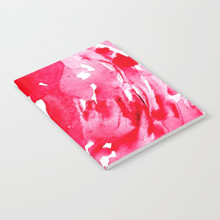 The One Who Came by Water and Blood. Watercolor Red Wave Notebook