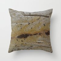 swedish Throw Pillows featuring Swedish wood by ilsephilips