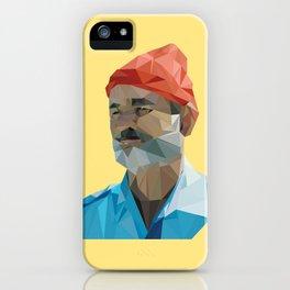 Steve Zissou low poly portrait iPhone Case