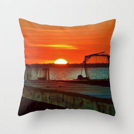 Waiting for Bait Throw Pillow