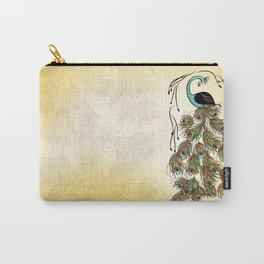 Vibrant Jungle Peacock Carry-All Pouch