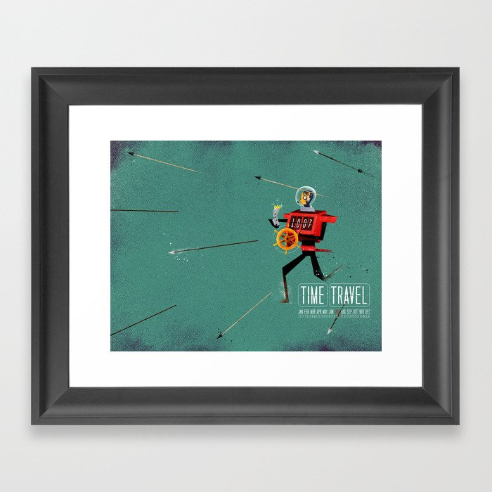 The Time Travelling Pirate Framed Art Print