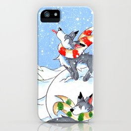 A Break for Snowflakes iPhone Case