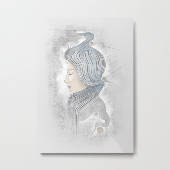 The waterfall of Subconsciousness Metal Print