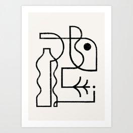 Contour Art Print