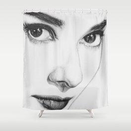 Audrey Hepburn (minimal) Shower Curtain