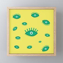 Eyes Pattern Framed Mini Art Print