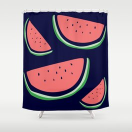 Bright Watermelon Print Shower Curtain
