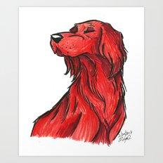 Brush Breeds-Irish Setter Art Print