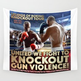Legends of Boxing Knockout Tour Wall Tapestry