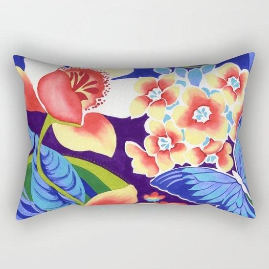 Whimsical Garden Rectangular Pillow
