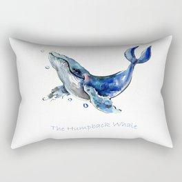 Whale Artowrk, Humpback Whale Rectangular Pillow