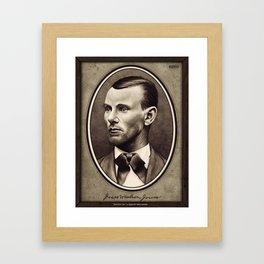 Jesse Woodson James Framed Art Print