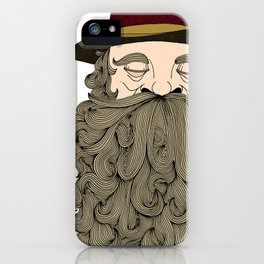 Musky Old Man iPhone Case