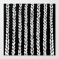 knit Canvas Prints featuring Knit 8 by Project M