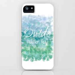Outdo Yester You (white, blue, green) iPhone Case