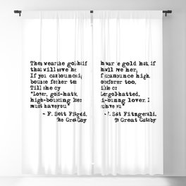 Epigraph - The Great Gatsby - Fitzgerald quote Blackout Curtain